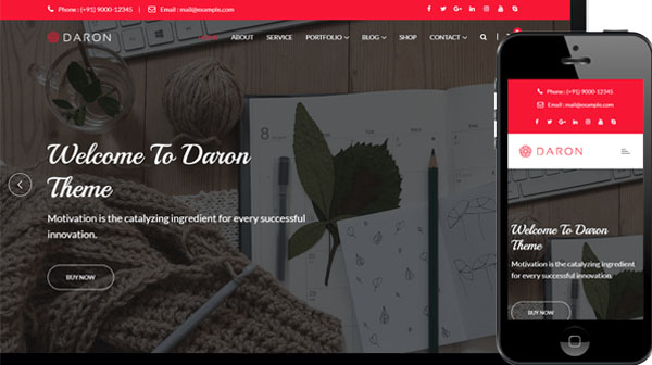 Daron Premium WordPress Theme
