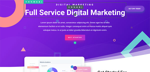 Divi Theme Screen
