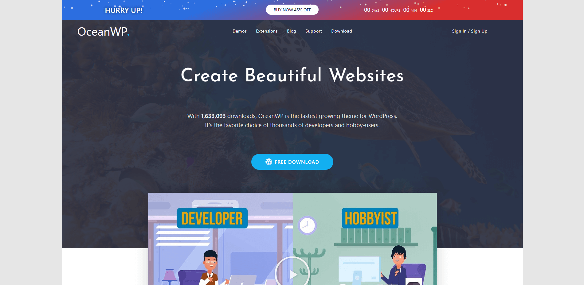 Beautiful WordPress Theme OceanWP
