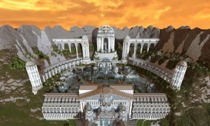 minecraft fantasy creations realistic adamantis builds cliff biggest ever most huge gb bc map build epic amazing temple blocks million