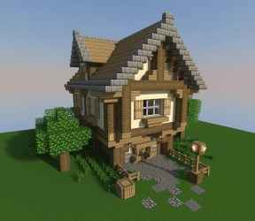 minecraft cottage build building guide medieval wordpuncher step