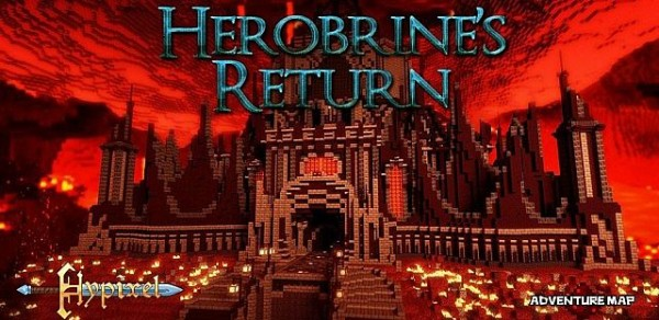 herobrine's return minecraft adventure map game download