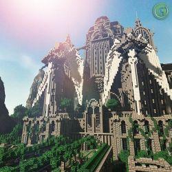 minecraft castle medieval fantasy build halion massive map keep wordpuncher modern erebor builds tutorial building epic temple monastery plans designs