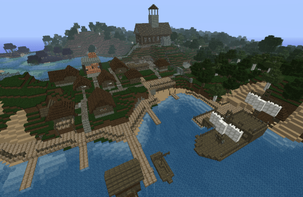 Seaside Town Map Minecraft