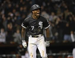 Tim Anderson celebrates a big home run.