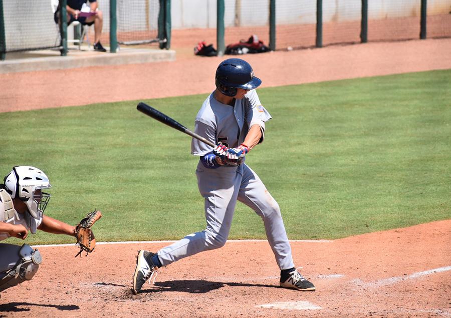 Bobby Witt Jr. at-bat in a High School game.