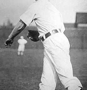 Otto Hess playing catch.