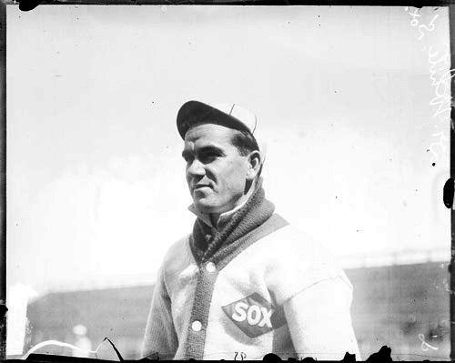 Doc White posing for a picture before a game in 1909.
