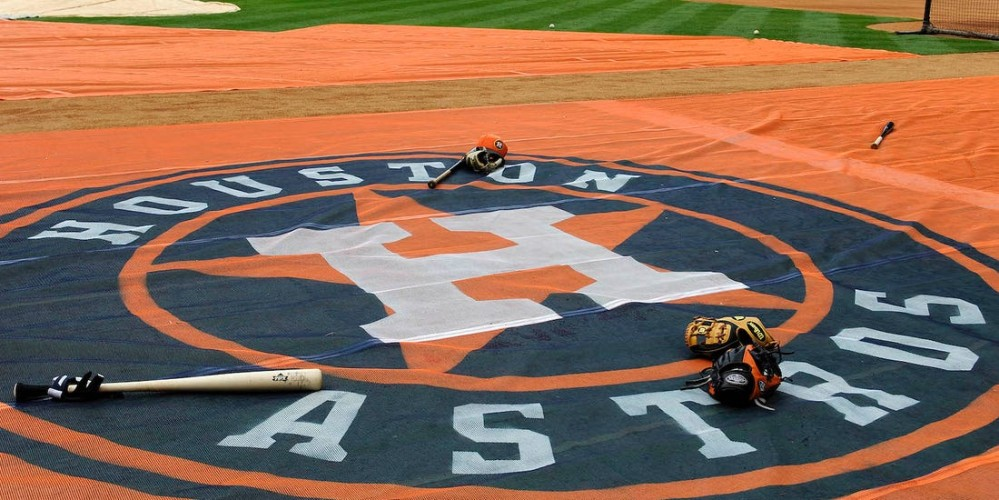 Houston Astros on-deck circle.