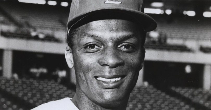Curt Flood posing for a photo