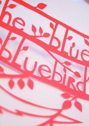papercut-bluebird