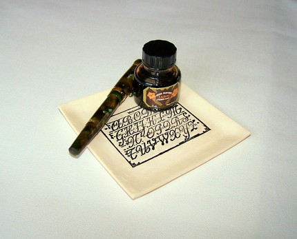 Pen + Ink + Porcelain alphabet = Perfection