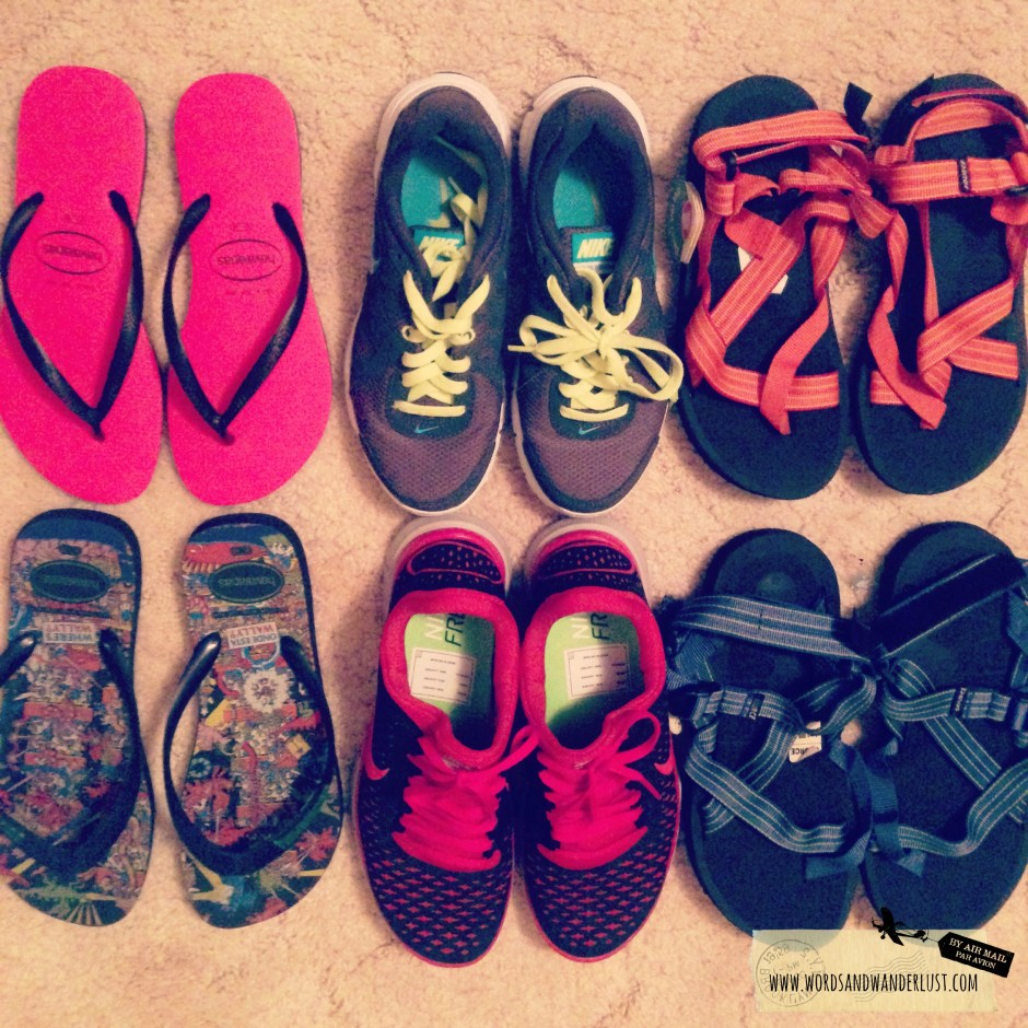 What to pack in a road trip - shoes