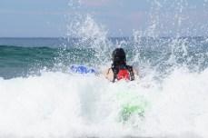 Nick surf kayaking, plunge