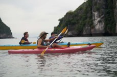 Padding with Nick the guide, Lan Ha Bay