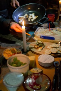 Feasting on cheese (including haloumi) at Gooandra