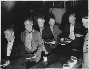 Soup-line during The Depression courtesy Wikimedia.org