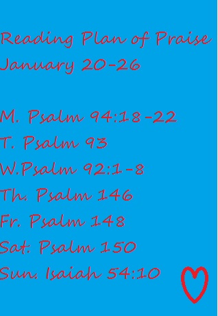 Reading Plan Jan 20-26