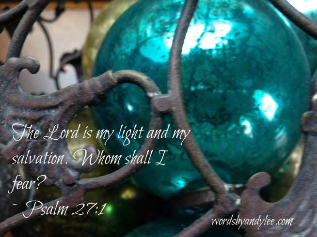 Blue ball in iron basket_Psalm 27