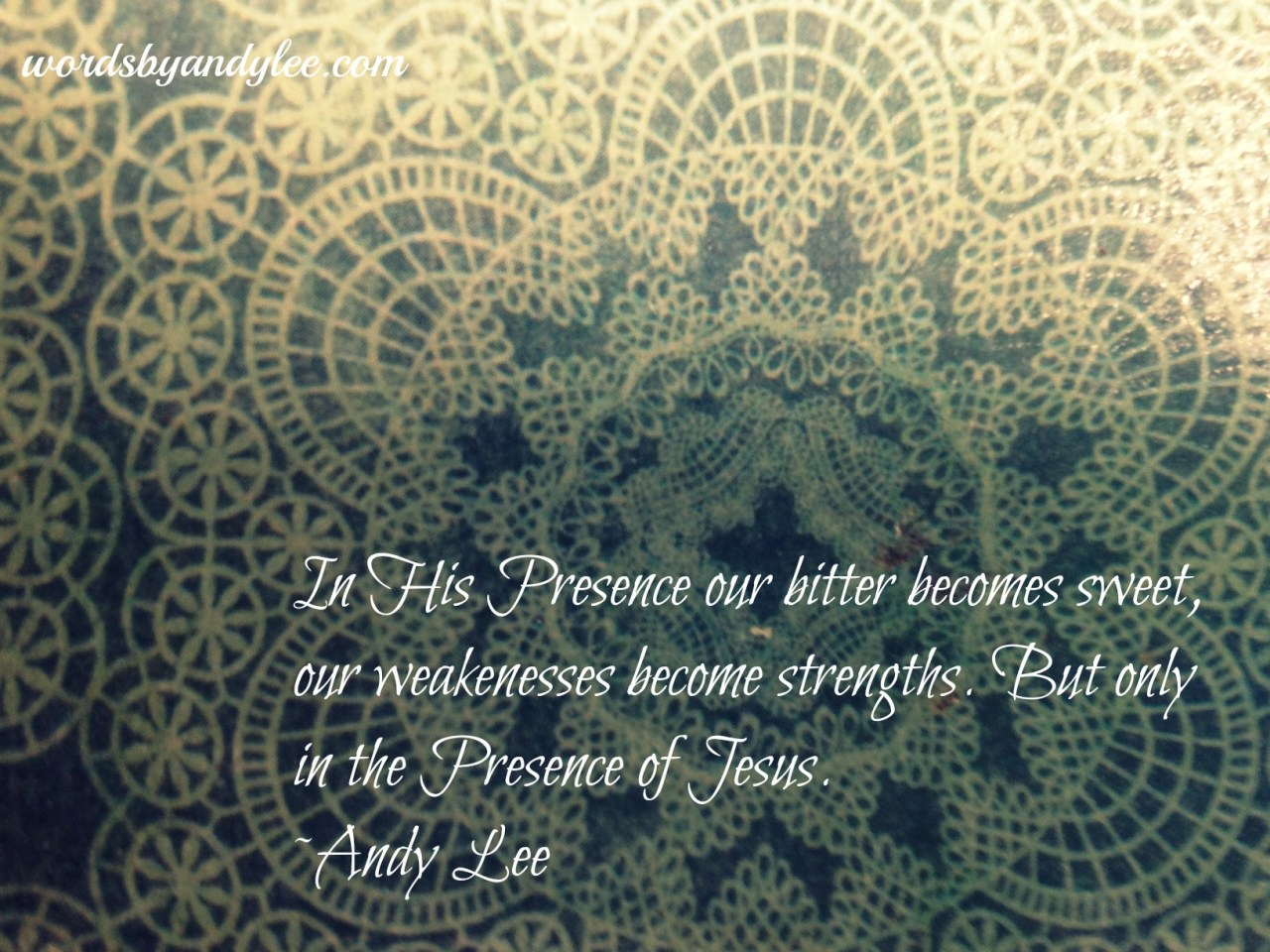 In His Presence quote