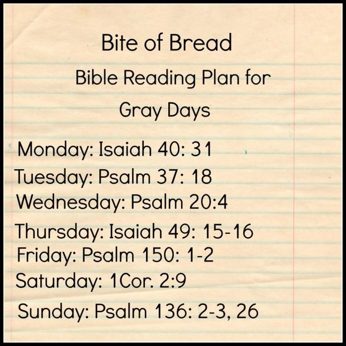 Bite of Bread for Gray days jan. 2015