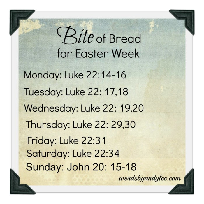 Bite of Bread for Easter Week