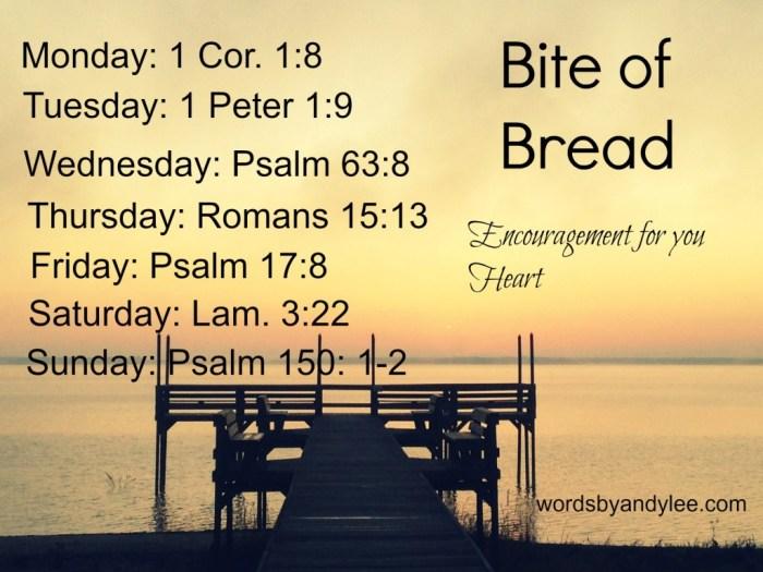 Bite of Bread heart encouragement