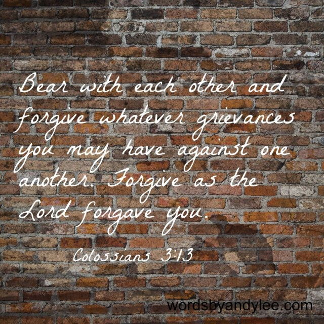 Forgive as the Lord