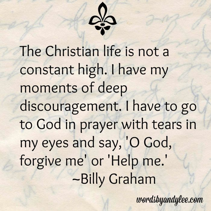 Billy Graham quote on discouragement