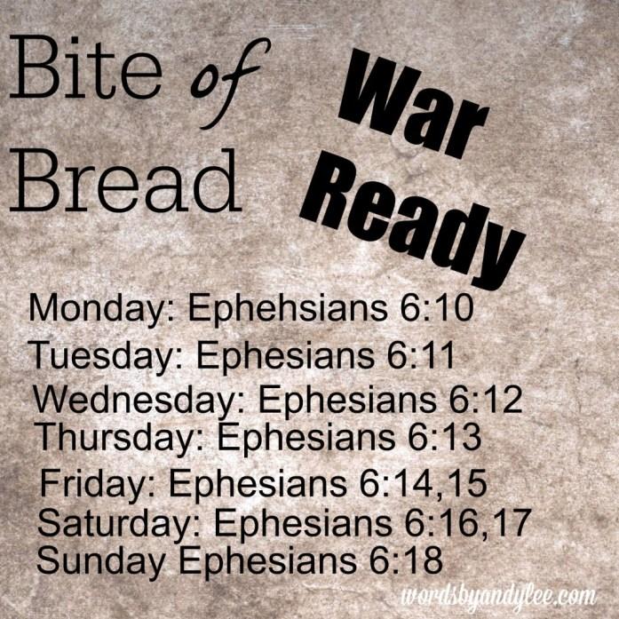 Bite of Bread War Ready