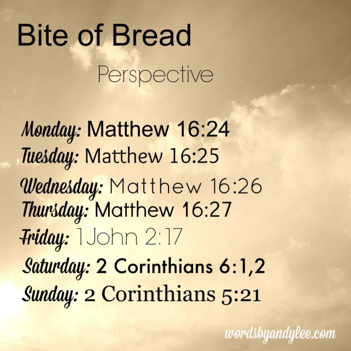 bite of bread perspective