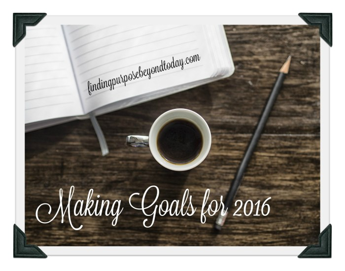 Making Goals for 2016