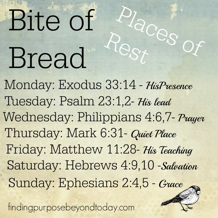 Bite of Bread Places of Rest