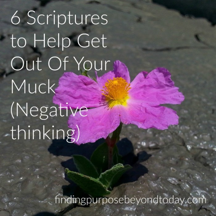6 scriptures to help get out of muck