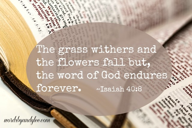 Isaiah 408 Grass withers