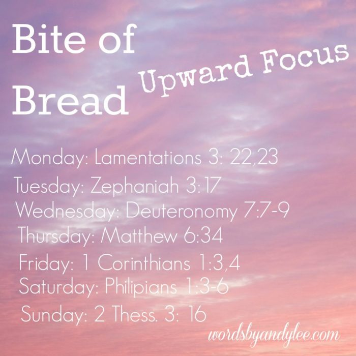Bite of Bread Upward Focus