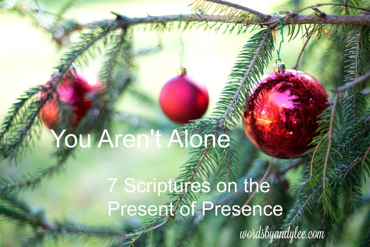 You're Not Alone {7 Scriptures on God's Presence}