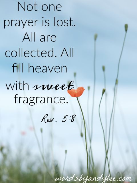 Prayers in heaven Rev. 5:8