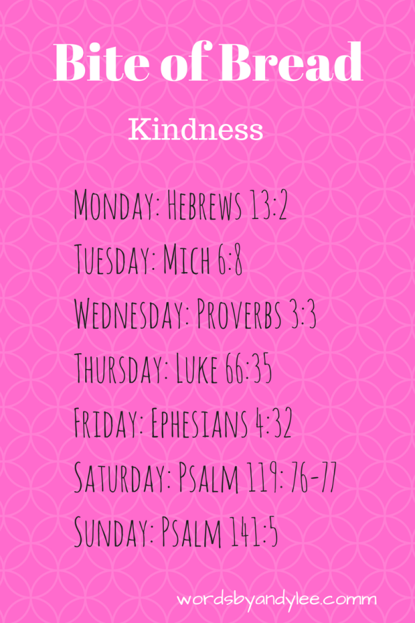 kindness reading plan
