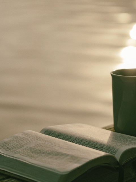 bible, coffee