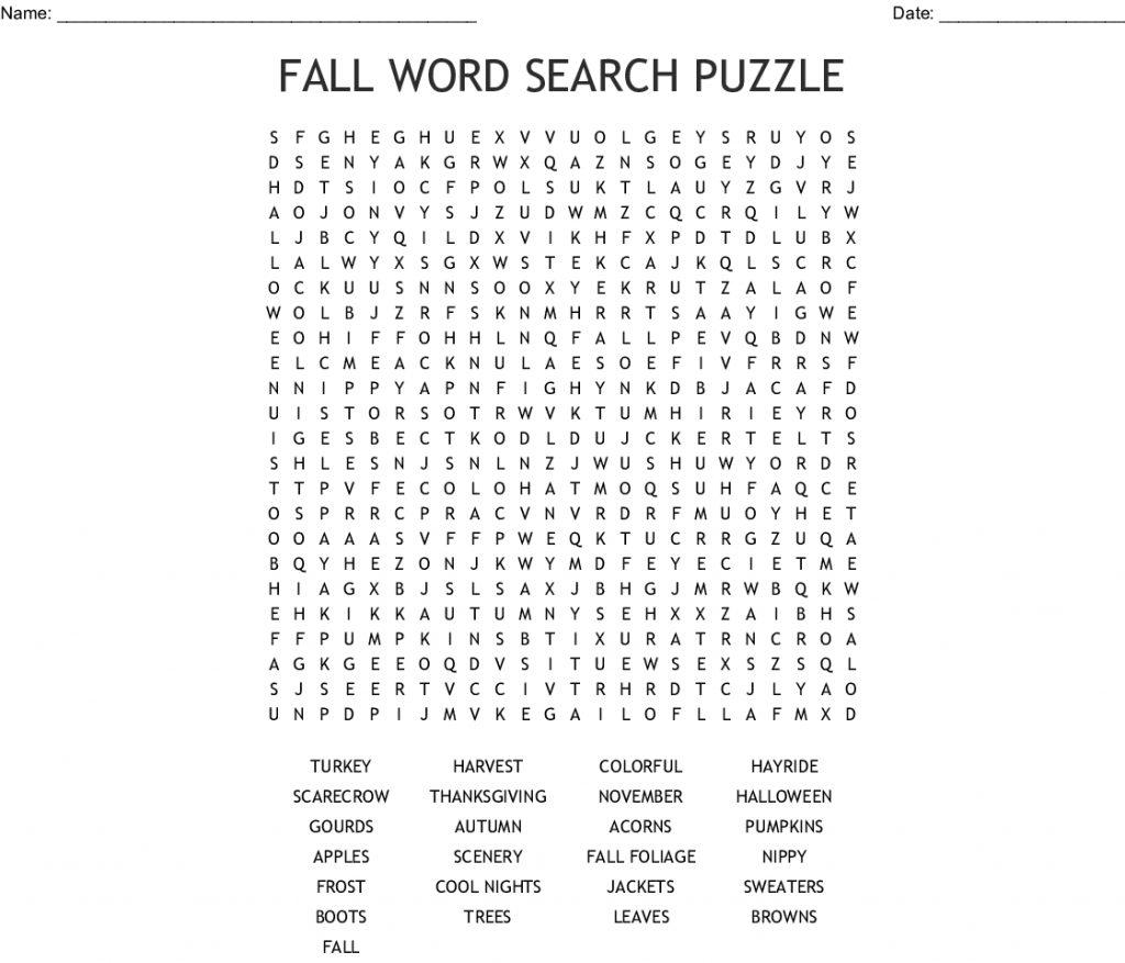 Harvest Crossword