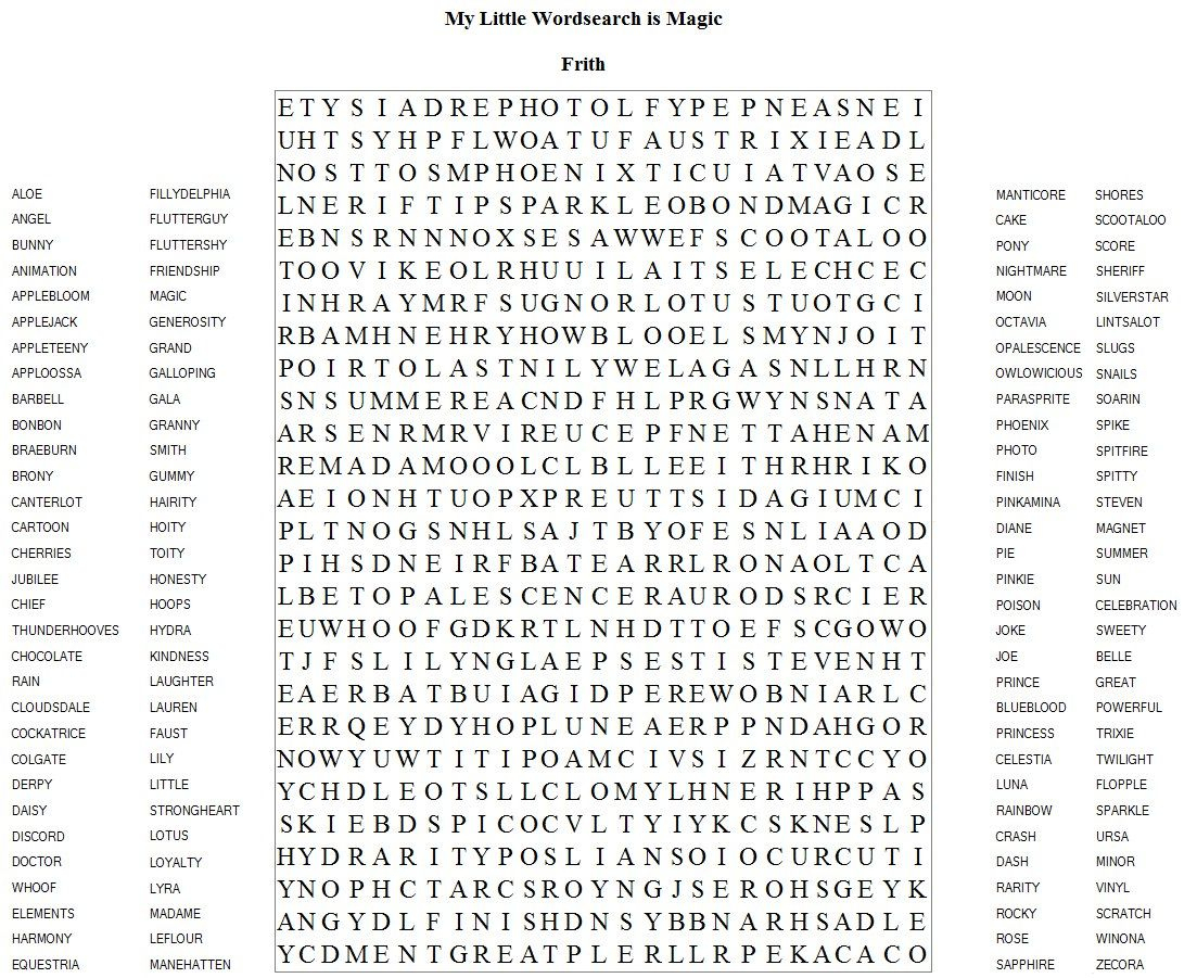 Hard Printable Word Searches For Adults