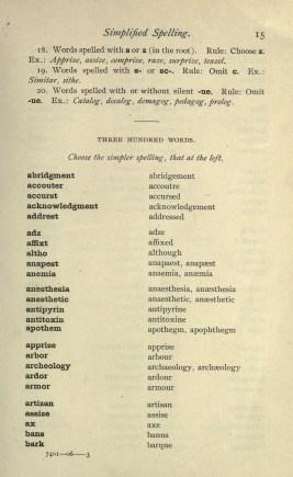 Simplified Spelling [1906]