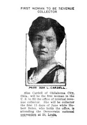Ada L. Cardell, first woman Internal Revenue collector. (1916)