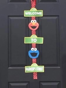 welcome to sesame street party sign