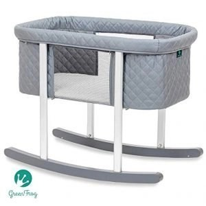 Baby Bassinet Cradle with Gentle Rocking Feature