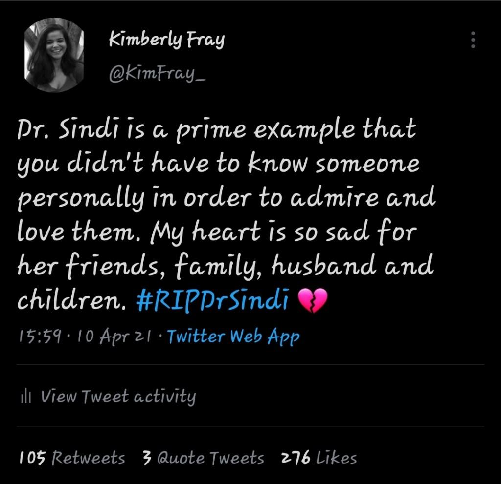 Dr. Sindi, Covid-19, kindness, love