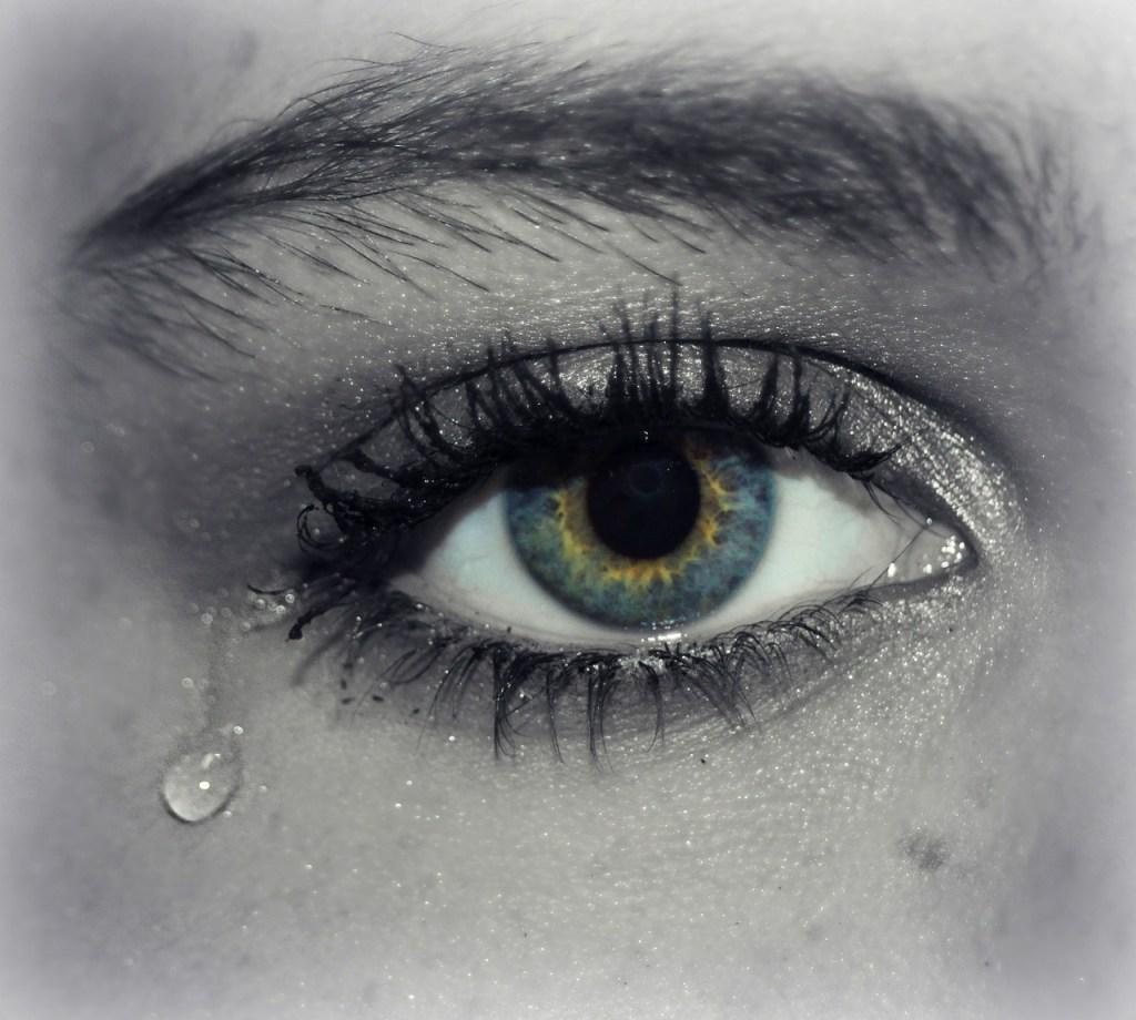 eye, tear, cry