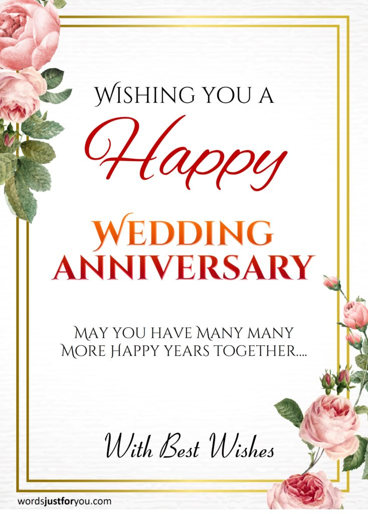 Happy Wedding Anniversary CARD | Words Just for You! - Free Downloads and Free Sharing