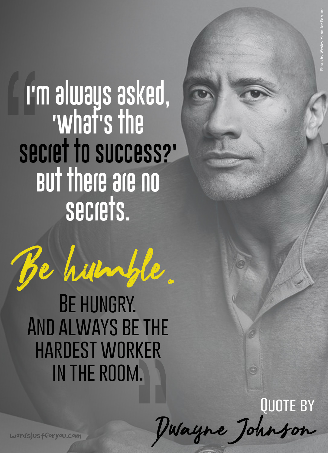 Easter Quotes And Sayings Wallpapers Quote On Success By Dwayne Johnson Words Just For You
